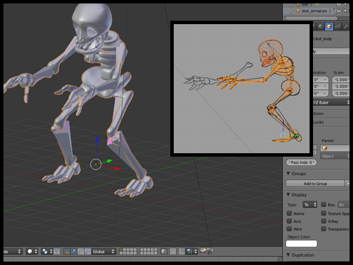 how to make a skeleton in blender