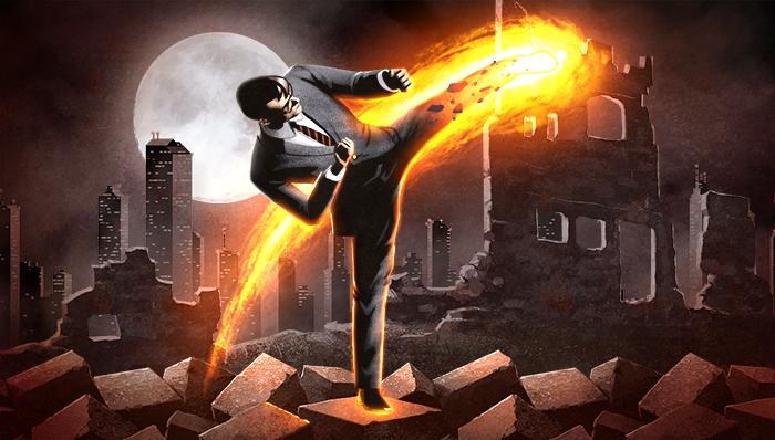 Flame kick!